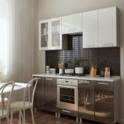 Кухня Титан (белый/черный)