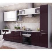 Модульная кухня Капля-2 (Баклажан/Белый)