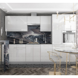 Модульная кухня Капля (Белый глянец)