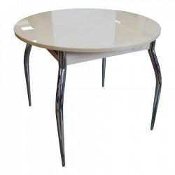 Стол круглый раздвижной САНАРИ (СС 04) калёное стекло