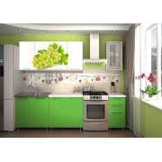 Кухня фотофасад (зелёный/виноград) длина 2 м.