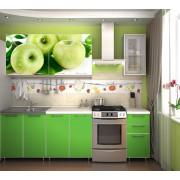 Кухня фотофасад (зелёный/яблоко) длина 2 м.