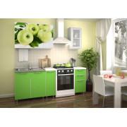 Кухня фотофасад (зелёный/яблоко) длина 1,5 м.