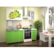 Кухня фотофасад (зелёный/виноград) длина 1,5 м.