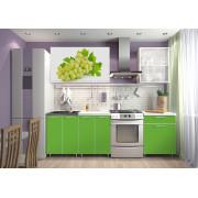 Кухня фотофасад (зелёный/виноград) длина 1,8 м.