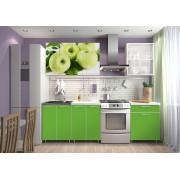 Кухня фотофасад (зелёный/Яблоко) длина 1,8 м.