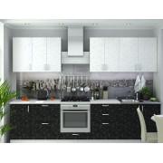 Модульная кухня Дина Принт (Белый-Черный)