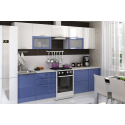 Модульная кухня Ксения (Белый/Сизый)