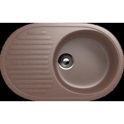 ES-16/307, Мойка овальная, искусственный камень, терракот