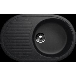 ES-16/308, Мойка овальная, искусственный камень, черный