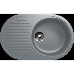 ES-16/309, Мойка овальная, искусственный камень, темно-серый