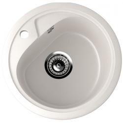 ES-10/331, Мойка круглая, искусственный камень, белый