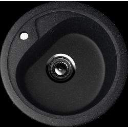 ES-10/308, Мойка круглая, искусственный камень, чёрный