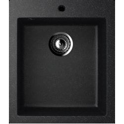 ES-14/308, Мойка квадратная, искусственный камень, чёрный