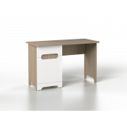 Стол письменный Палермо-Юниор (1200*550*750), Белый глянец/ ясень шимо светлый